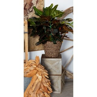 Set of 3 Farmhouse Faded Wooden Square Planters