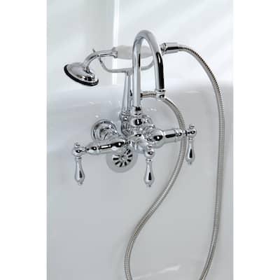 Americana Modern Wall-Mount Chrome Clawfoot Tub Faucet