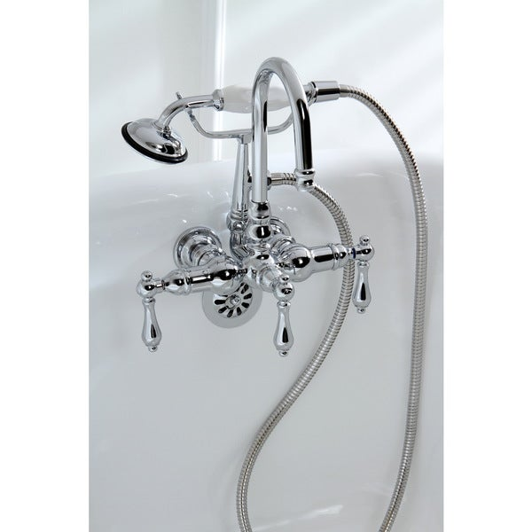 Shop Americana Modern Wall Mount Chrome Clawfoot Tub Faucet Free