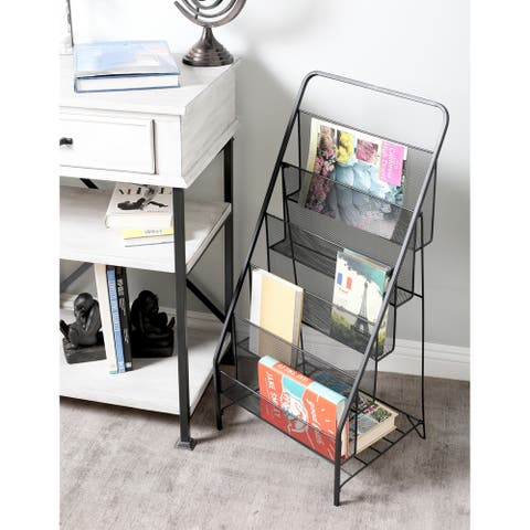 Industrial Iron 5-Tiered Black File Holder