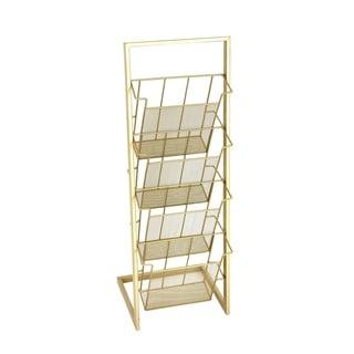 Traditional Iron 4-Shelf Slanted Shelf Rack