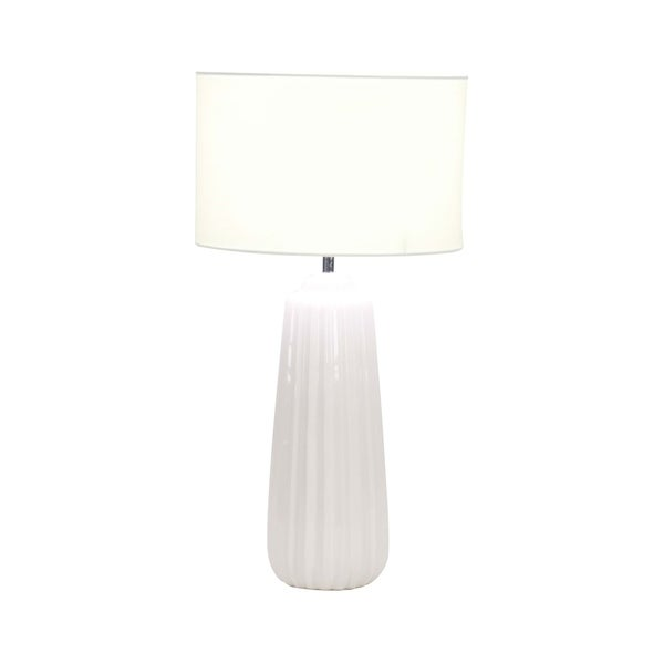 34eedd00f436 Shop Modern Ceramic Tapered Cylindrical White Table Lamp - Free ...