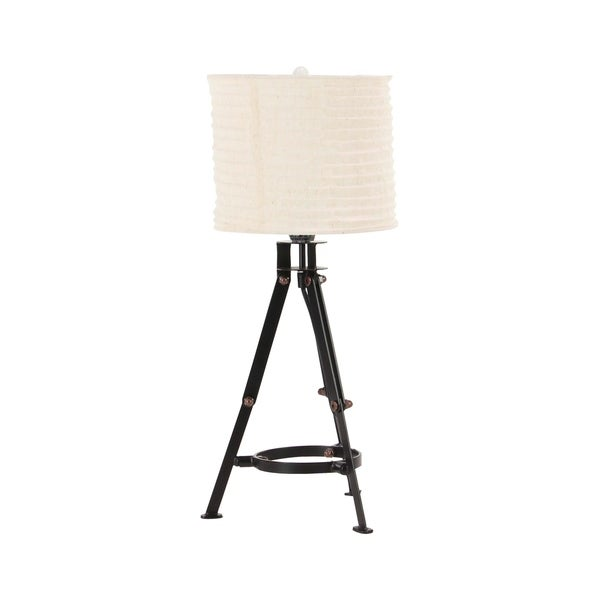 24 inch Industrial Iron Tripod Table Lamp
