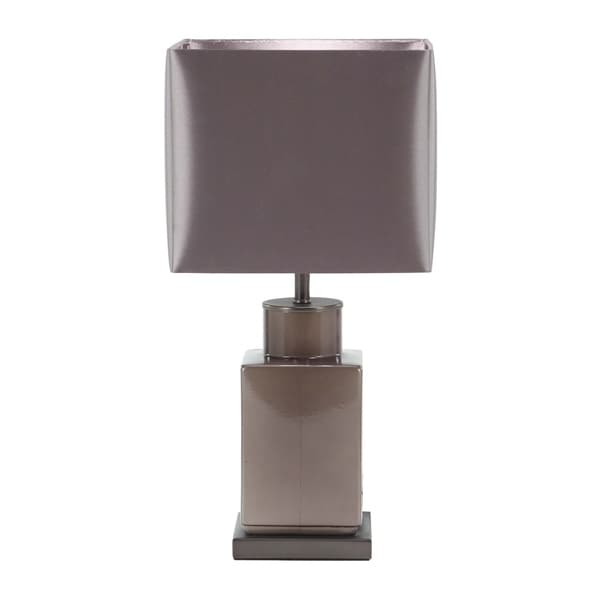 Modern Concrete and Iron Square Bottle-Shaped Black Table Lamp
