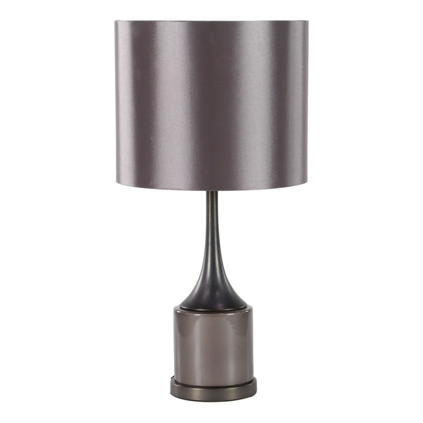 23 inch Modern Ceramic and Iron Polished Black Table Lamp
