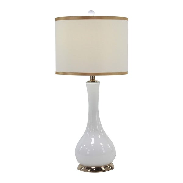 Modern Iron and Glass Long Neck Gourd Table Lamp