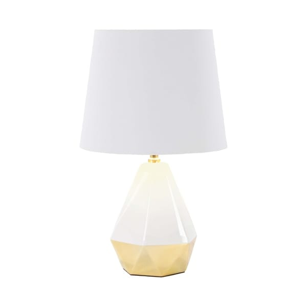 23 inch Modern Ceramic and Iron Faceted Pear-Shaped Table Lamp