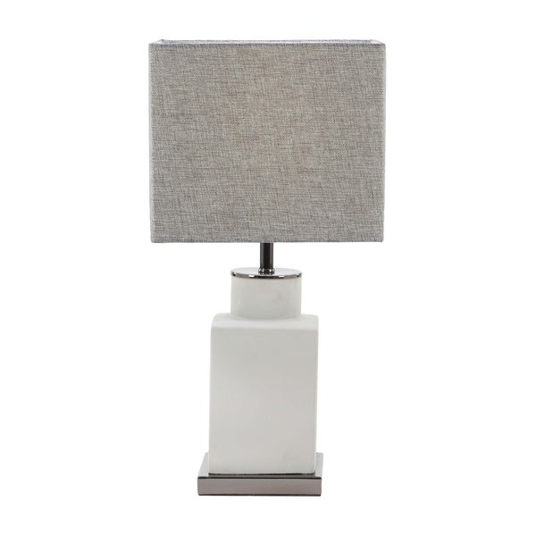 Studio 350 Modern Bottle Shaped Gray Concrete Iron Square Table Lamp   Free  Shipping Today   Overstock.com   25545818
