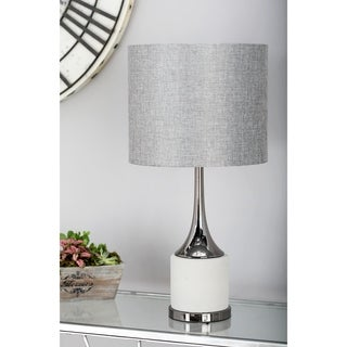 23 Inch Modern Concrete And Iron Matte Gray Table Lamp