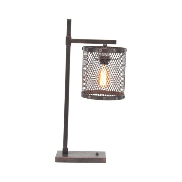 Industrial Iron Mesh Table Lamp