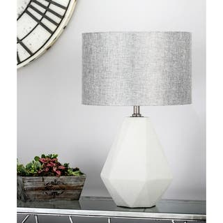 Buy concrete table lamps online at overstock our best lighting modern concrete and iron faceted pear shaped gray table lamp aloadofball Gallery