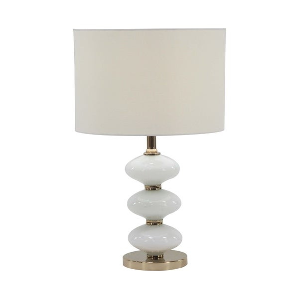 Modern Iron and Glass Segmented Gourd Table Lamp