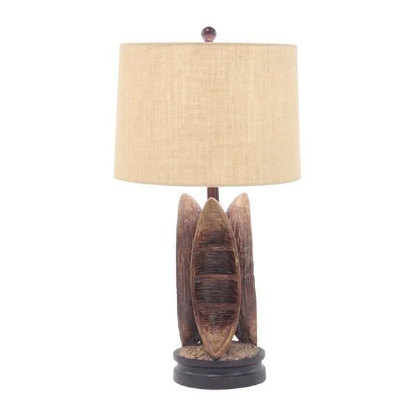 Coastal Resin Ethnic Boats Table Lamp
