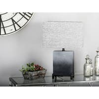 22 inch Modern Polystone and Iron Square Gradient Gray Table Lamp