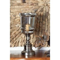 Modern Iron and Glass Goblet Uplight Table Lamp