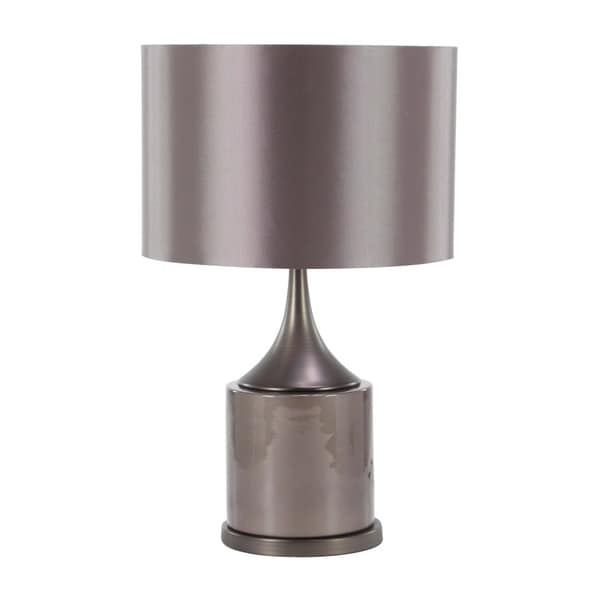 24 inch Modern Ceramic and Iron Polished Black Table Lamp