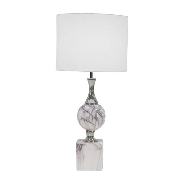 Modern Ceramic Cylindrical White Table Lamp