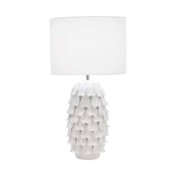Modern Ceramic White Pineapple Table Lamp