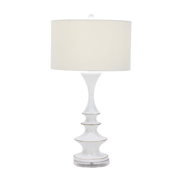 Traditional White Resin Table Lamp