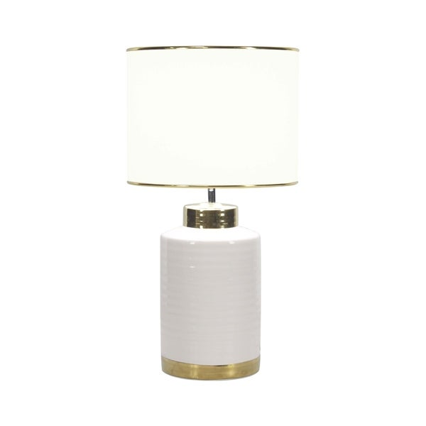 Modern Ceramic Lacquered Cylindrical Table Lamp