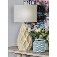 Modern Ceramic Yellow Bud Table Lamp