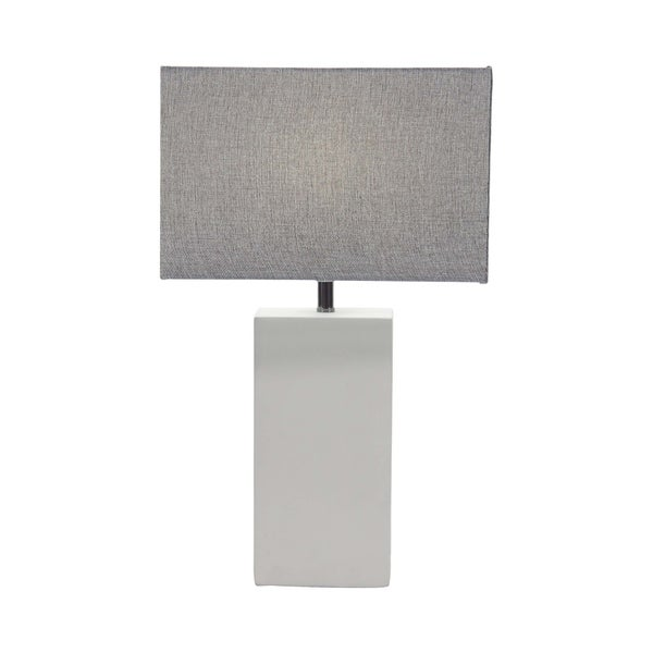 Modern Concrete and Iron Rectangular Gray Table Lamp