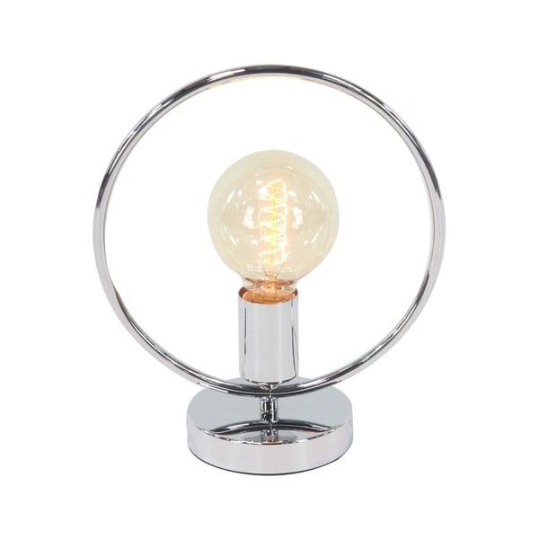 Modern Iron Circular Tube Framed Lamp with Bulb