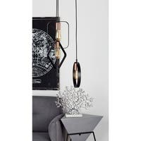 Modern 12 Inch Geometric Band Framed 3-Light Pendant by Studio 350