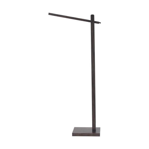 Modern Pine Wood and Iron Swiveling Led Floor Lamp