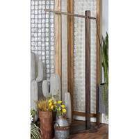 Modern 60 Inch Wood and Iron Swiveling LED Floor Lamp by Studio 350