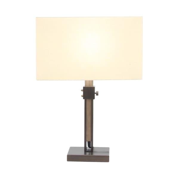 Modern Metal and Pine Wood Adjustable Table Lamp