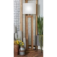 Farmhouse 64 Inch Iron and Pine Wood Brown Floor Lamp by Studio 350