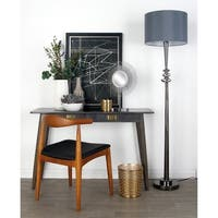 Studio 350 Grey Iron and Glass Floor Lamp
