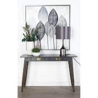 Modern Kanaloa Wood Console Table with Drawers