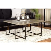 Contemporary 16 x 36 Inch Square Wooden Coffee Table by Studio 350