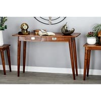 Modern Kanaloa Wood Stained Brown Console Table