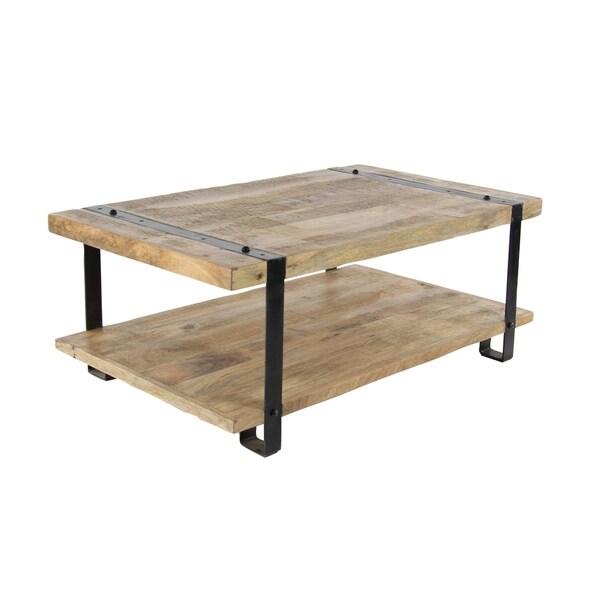 Beautiful Industrial Mango Wood And Iron Coffee Table