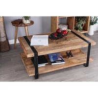 Industrial Mango Wood and Iron Coffee Table