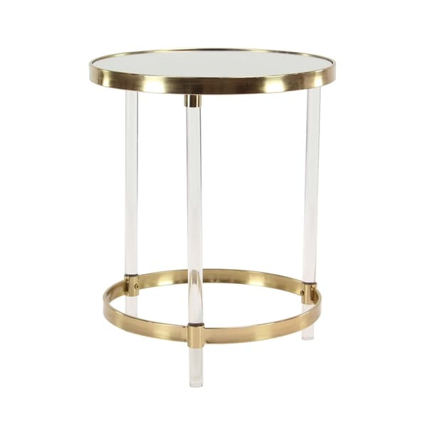 Shop Modern Round Iron and Acrylic Accent Table - Free ...