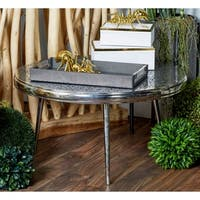 Modern Aluminum Round Stencil Design Coffee Table