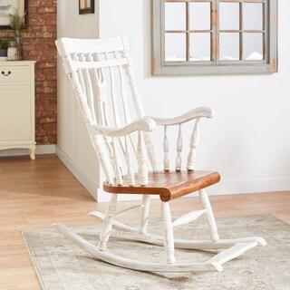 Traditional Mahogany Wood Windsor Rocking Chair