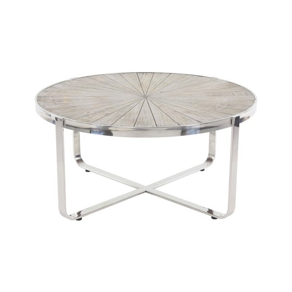 Stainless Steel And Wood Coffee Table: Shop Contemporary Wood And Stainless Steel Coffee Table