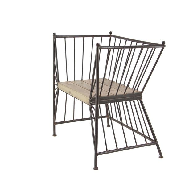 Astonishing Studio 350 Modern Grey Iron High Back Accent Chair With Gmtry Best Dining Table And Chair Ideas Images Gmtryco