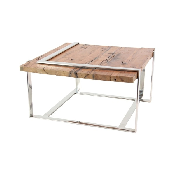 Stainless Steel And Wood Coffee Table: Shop Modern Stainless Steel And Wood Coffee Table