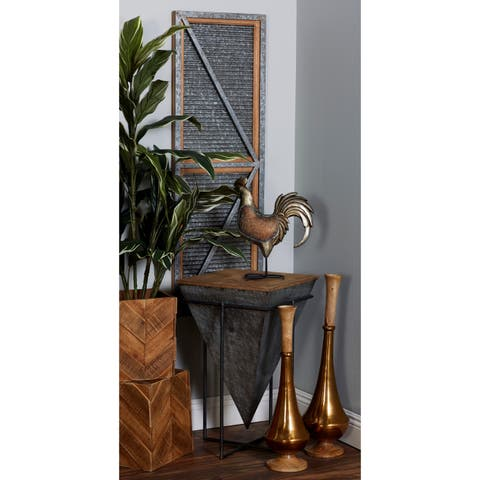 Modern 26 x 16 Inch Inverted Pyramid Accent Table by Studio 350