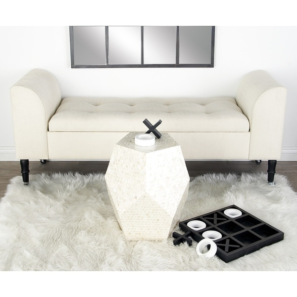 Shop Modern 24 X 60 Inch Cushioned Cleopatra Storage Bench By Studio