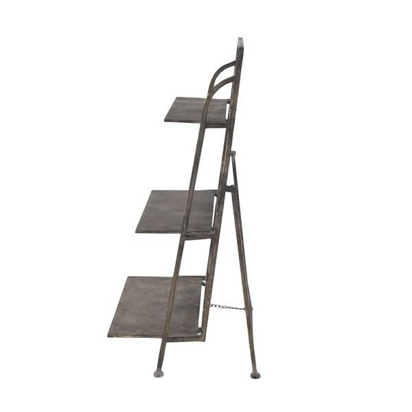 Farmhouse Iron 3-Tier Ladder Shelf