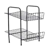 Industrial 2-Tier Iron Shelf Rack