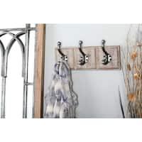 Farmhouse 6 x 14 Inch Distressed Wall Hook Rack by Studio 350