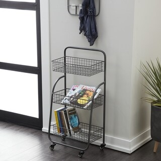 Link to Modern 3-Tiered Iron Storage Cart with Caster Wheels Similar Items in Storage & Organization